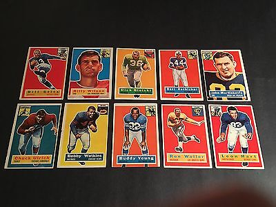 1956  TOPPS  FOOTBALL  10 CARD LOT