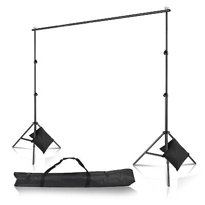New 10Ft 2m Adjustable Background Support Stand Photography Video Backdrop Kit