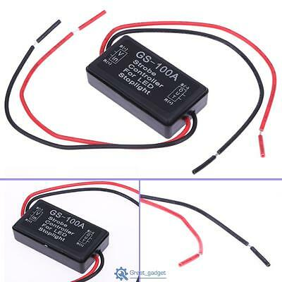 HOT GS-100A 12V LED Brake Stop Light Strobe Flash Module Controller Box For Car
