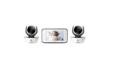 Motorola MBP854CONNECT-2 Dual Mode Baby Monitor with 2 Cameras and 4-3-Inch LCD
