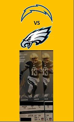 2tickets Los Angeles Chargers vs Philadelphia Eagles 10117
