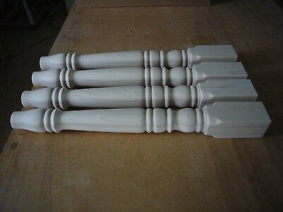 A set of 4 brand new unfinished poplar wood table legs- For kitchen dining