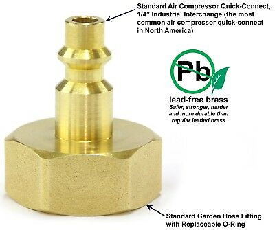 Winterize Sprinkler Faucet Spigot - Hose Bibb by Blow Out Adapter Fitting Plug
