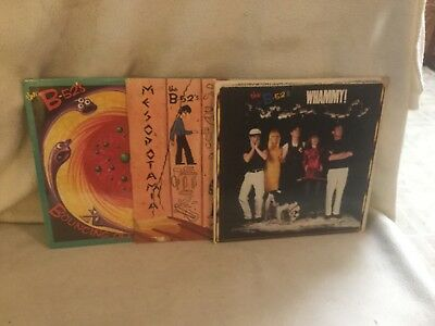 Collection Lot Of 3 B 52s LP Records