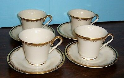 LOT OF 4 LENOX ECLIPSE CUPS AND SAUCERS NEVER USED FREE U S SHIPPING