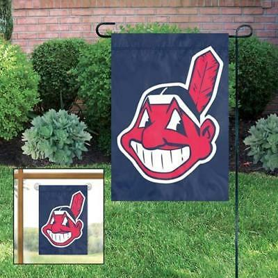 Cleveland Indians Embroidered 15 x 10-5 Garden Flag with Window Hanger