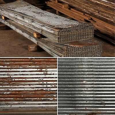 Reclaimed Barn Tin Roof Wainscoting 26x38
