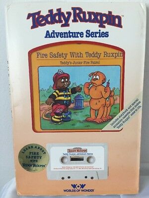 Teddy Ruxpin Adventure Series Fire Safety With Teddy Ruxpin by WOW Book and Tape