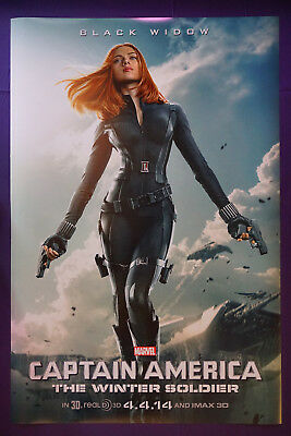 Captain America Scarlett Johansson Winter Soldier Movie Poster 24X36 New   SCAR