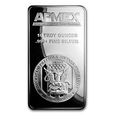 10 oz Silver Bar APMEX - SKU 88929