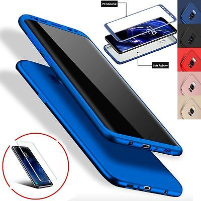 New ShockProof Hybrid 360 TPU Thin Case Cover For Samsung Galaxy S7 edge S8 S9 -