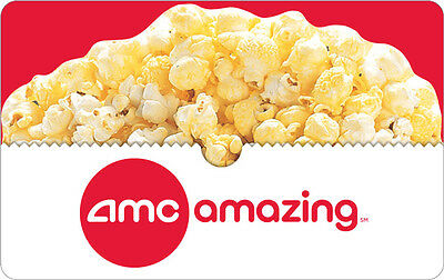 Buy a 25 AMC Gift Card and Receive a FREE Popcorn Voucher - FREE Mail Delivery