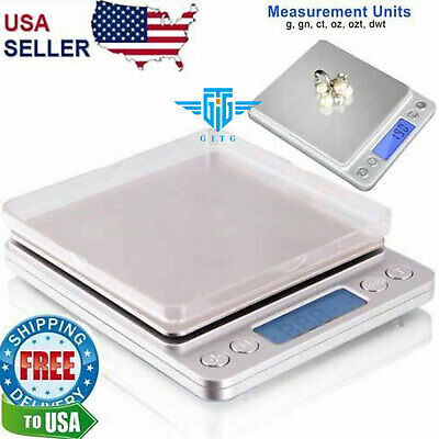 Digital Scale 2000g x 0-1g Jewelry Gold Silver Coin Gram Pocket Size Herb Grain