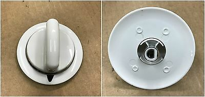 Metal Piece White Knob for General Electric Hotpoint GE Dryer  WE1M654