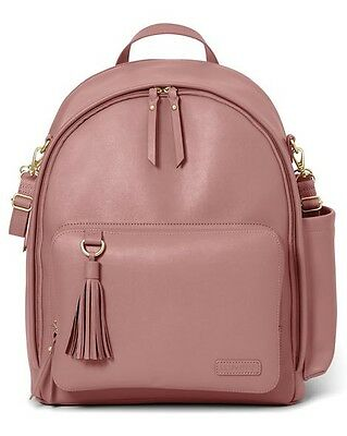 Skip Hop Greenwich Simply Chic Diaper Backpack color Dusty Rose