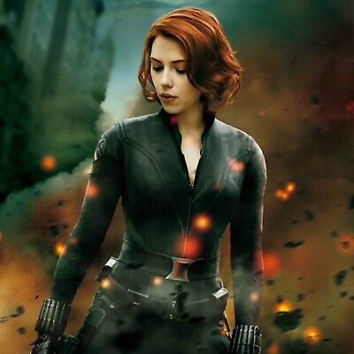 Scarlett Johansson Black Widow poster wall decoration photo print 24x24 inches