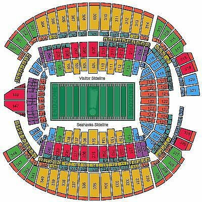 Seattle Seahawks vs Arizona Cardinals Tickets 123117 CHR107 Row T Seats 1-2