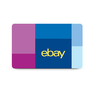 eBay Physical Gift Card 25 to 200 - Free Mail Delivery