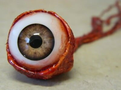 HALLOWEEN HORROR Movie PROP RIPPED OUT EYEBALL Light Brown