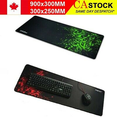 New 90x30cm Big Size Desk Mat Black - Red Extended Gaming Large Mouse Pad XXL