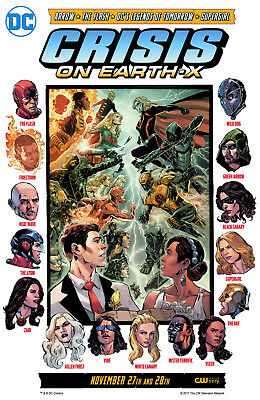 CW- CRISIS ON EARTH X CROSSOVER 11x17 TV SERIES POSTER PRINT