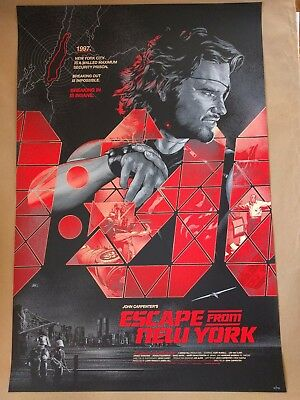 Escape from New York VARIANT screen print Martin Ansin 24x36 NYCC 2016 exclusive