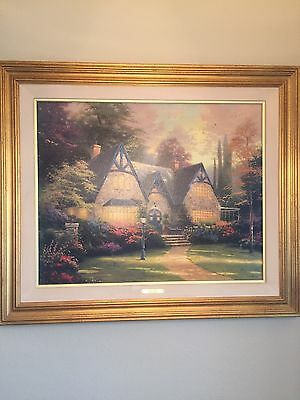 Thomas Kinkade Authentic Limited Edition Lithograph canvas Winsor Manor