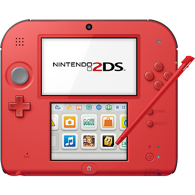 Nintendo 2DS Crimson Red 2 - FACTORY REFURBISHED BY NINTENDO