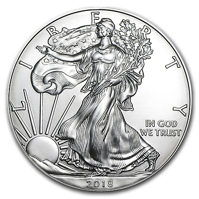 2018 1 oz Silver American Eagle Coin BU Lot of 20