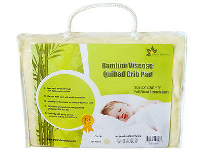 Waterproof Fitted Bamboo Crib and Toddler Mattress Protector  Pad  Cover