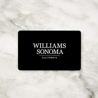 WILLIAMS SONOMA  WEST ELM  POTTERY BARN - GIFT CARD VALUE 250