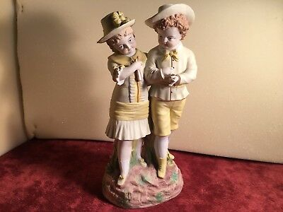 Antique Bisque Boy and Girl