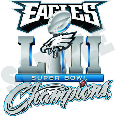 Philadelphia Eagles 2018 Super Bowl Champions 52 Decal  Sticker