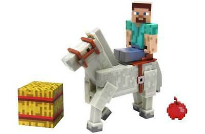 Minecraft Steve with Chestnut Horse 3-Inch Action Figure 2-Pack