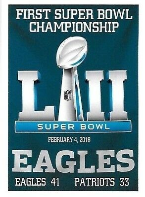 THE PHILADELPHIA EAGLES FIRST SUPER BOWL CHAMPIONSHIP IN S BOWL 52 FRIDGE MAGNET