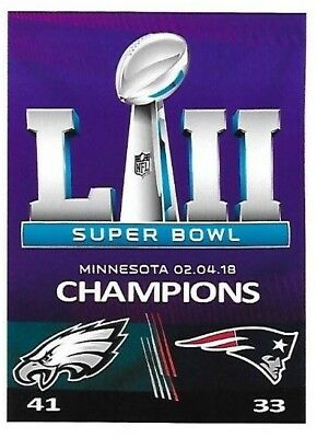 THE PHILADELPHIA EAGLES SUPER BOWL 52 CHAMPIONS COLLECTIBLE MAGNET