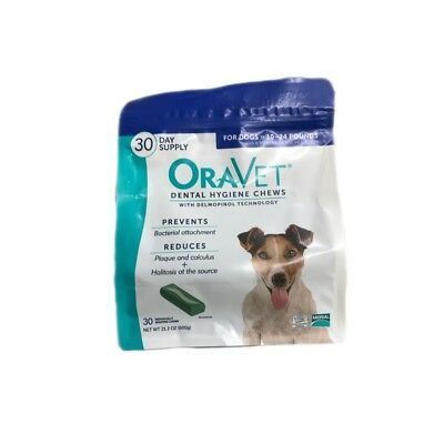 Oravet Dental Hygiene Chews Dogs 10-24lbs 30ct By Merial