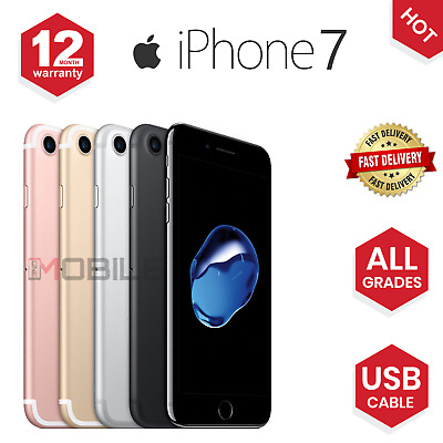 Apple iPhone 7 - 32GB128GB256GB - All Colours - UNLOCKED - Various Grades