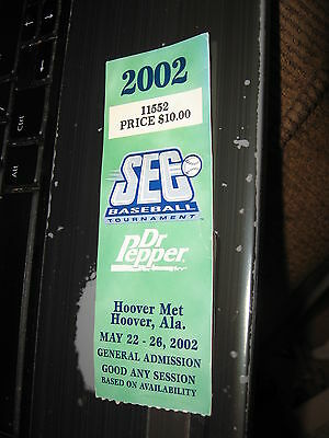 2002 LSU SEC baseball tournament NCAA any session dr pepper
