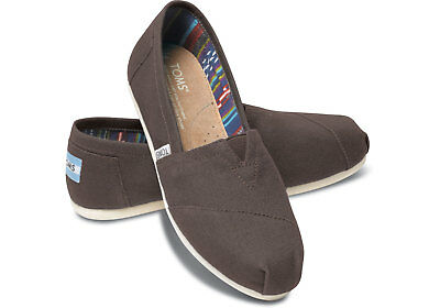 New Authentic TOMS Womens Classic Canvas Ash Ankle-High Flat Shoe - US size 10