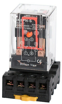 Ice Cube General Purpose Relay - Socket Choose Pin Configuration Voltage AC  DC
