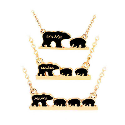Exquisite Grateful Mothers Day Gift Retro Animal Mama Bear Necklace mmj US