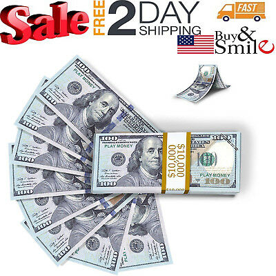 Play Money Fake 100 Dollar Replica Stage Copy Bills Texas Holdem Poker Prank Toy