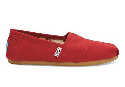 TOMS WOMEN CLASSIC RED CANVAS SIZE 7 to 11
