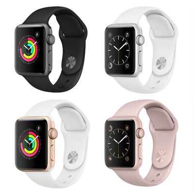 Apple Watch Series 2 38mm Aluminum Case - Space Gray Silver Gold Rose Sport Band