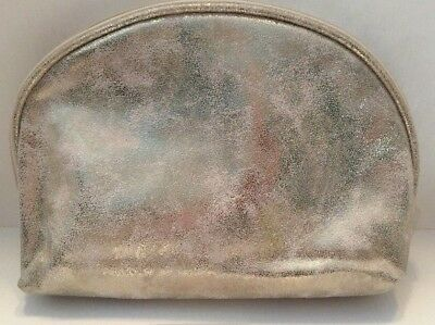 Lot 2 x Sephora Collection Makeup Cosmetic Pouch Bag Case Travel Marbled Gold