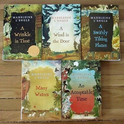 Complete Set 1-5 A WRINKLE IN TIME Series by Madeleine LEngle L2