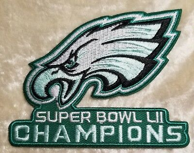 Philadelphia Eagles NFL Super Bowl LII Champions 3-5 Embroidered Patch