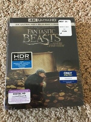 FANTASTIC BEAST AND WHERE TO FIND THEM 4K ULTRA HD STEELBOOK FACTORY SEALED