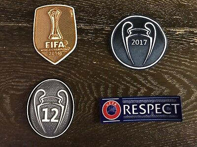 UEFA Champions League - FIFA patches Kit Ronaldo Bale Real Madrid jerseys 17-18